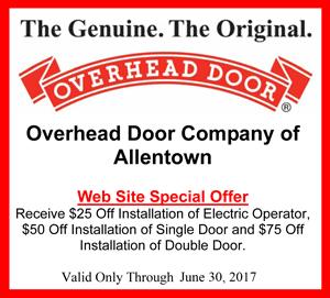 Specials Coupon June17 Overhead Door Co Of Allentown Pa